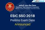 ESIC SSO 2018 Exam Date