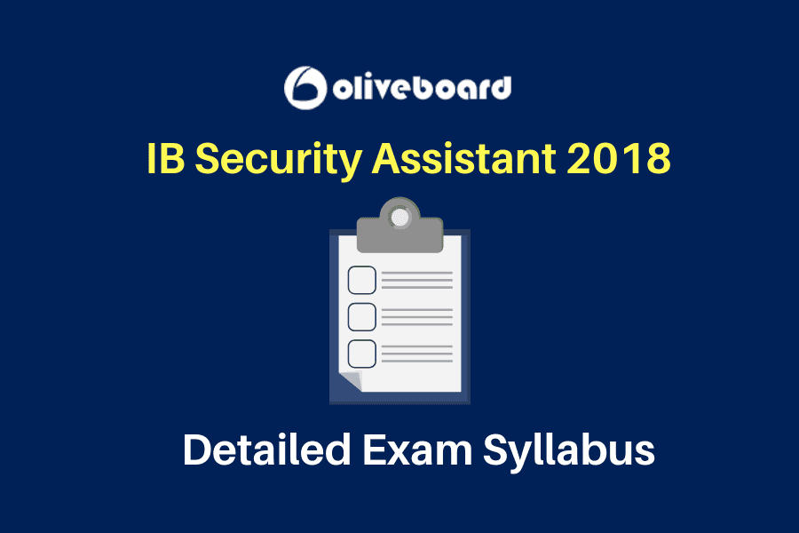IB Security Assistant Exam Syllabus