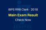 IBPS RRB 2018 Clerk Result Main Exam