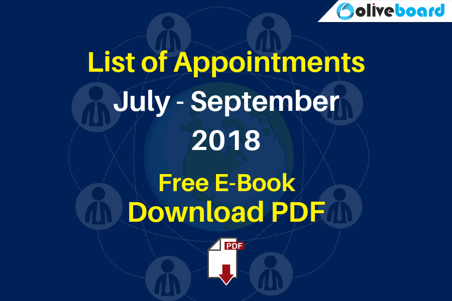List of Appointments 2018