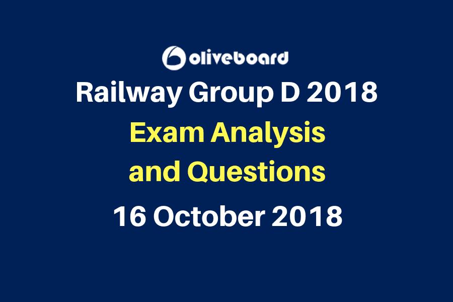 Railway Group D Exam Questions 16 oct