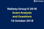Railway RRB Group D 2018 Exam Questions 15 oct