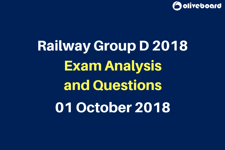 Railway RRB Group D Exam Questions 1 oct