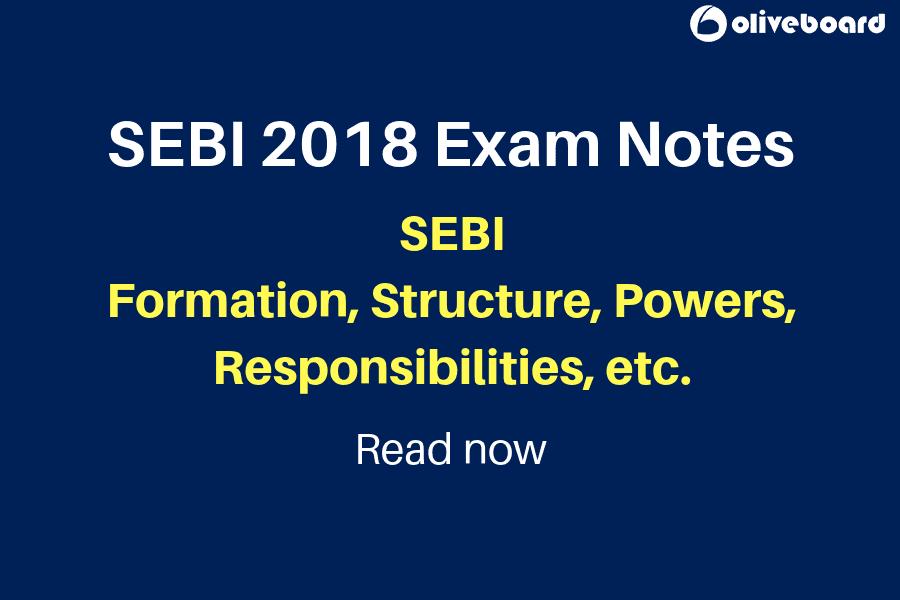 SEBI 2018 Exam notes SEBI