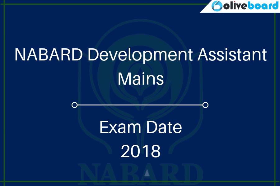 NABARD Development Assistant Mains Exam Date