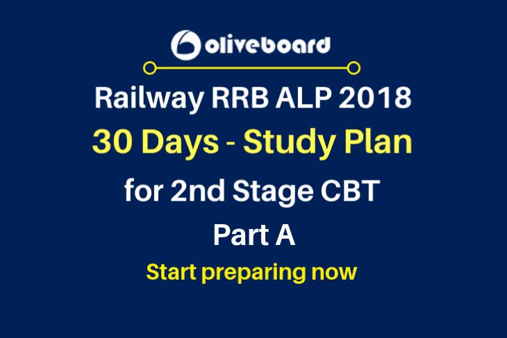 2nd Stage CBT RRB ALP 2018 Study Plan