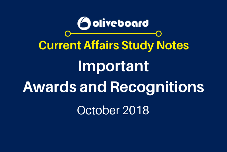 Current Affairs Study Notes Awards Oct