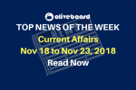 Current Affairs from Nov 18 to Nov 23 2018
