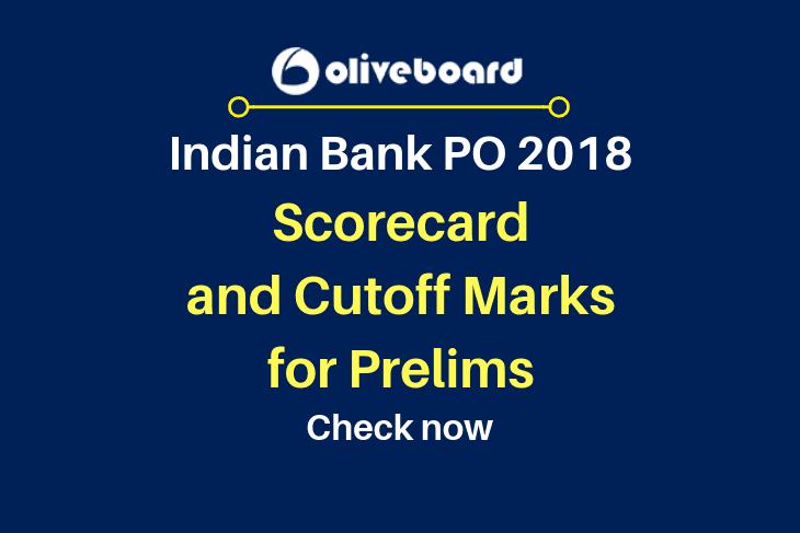 Indian Bank PO 2018 Scorecard and