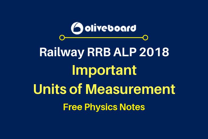 RRB ALP Physics Notes measurements