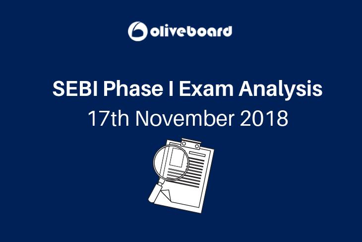 SEBI Phase I Exam Analysis