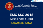 ESIC SSO Mains Admit Card