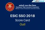 ESIC SSO Prelims Score Card