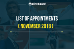 List of Appointments November