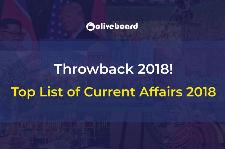 List of Current Affairs 2018
