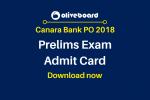 Canara Bank PO 2018 Admit Card