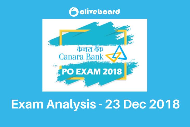 Canara Bank PO Exam Analysis 23 Dec