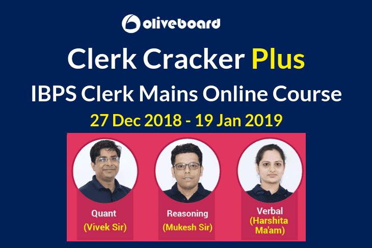Clerk Cracker Plus IBPS Clerk Mains Online Course