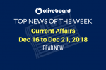 Current Affairs from Dec 16 to Dec 21 2018