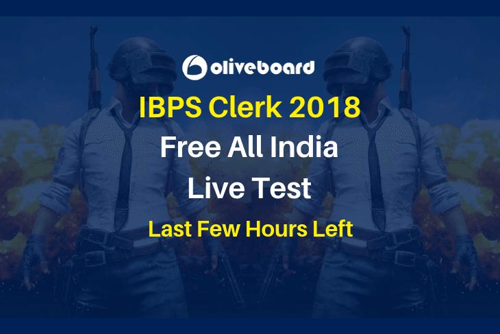 IBPS Clerk 2018 Live Test 5 Dec
