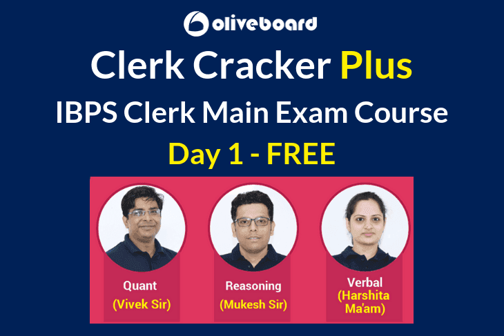 IBPS Clerk Main Exam Day 1 Free