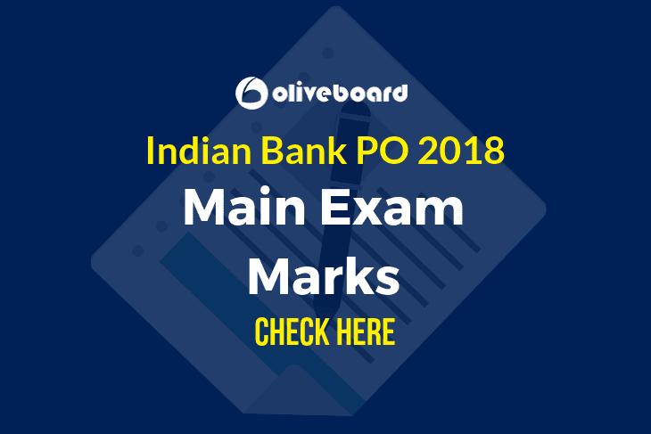 Indian Bank PO 2018 Mains Marks