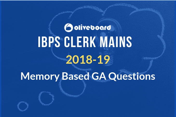 IBPS clerk mains GA questions