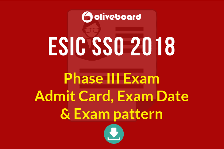 ESIC SSO Phase 3 Admit Card
