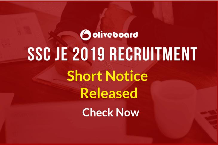 SSC JE 2019 Recruitment 1