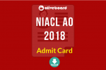 NIACL AO Admit Card Download