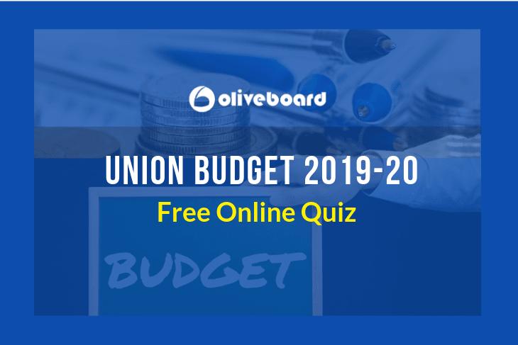 Union Budget 2019-20 Quiz