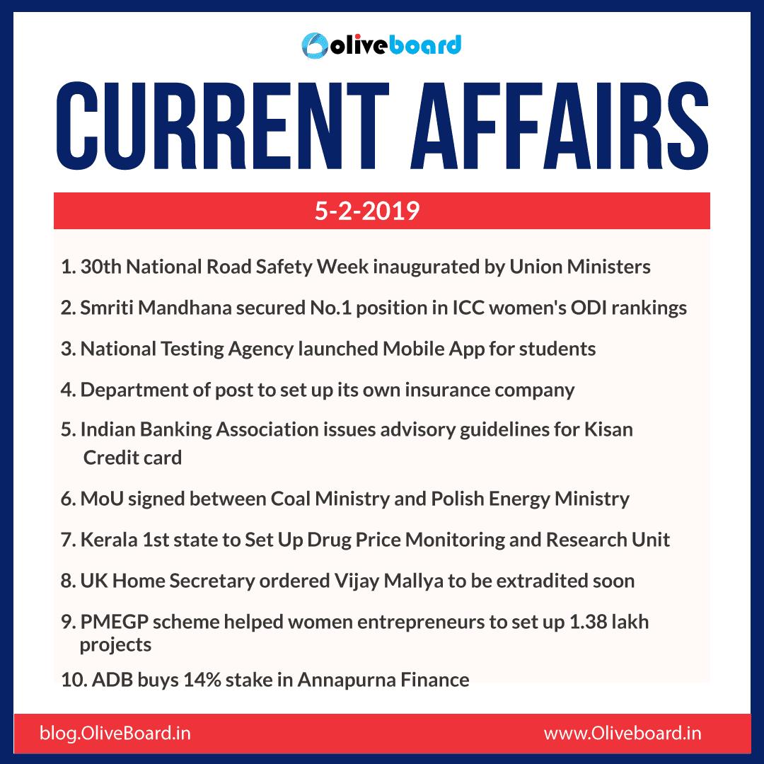Current Affairs: 05 February 2019