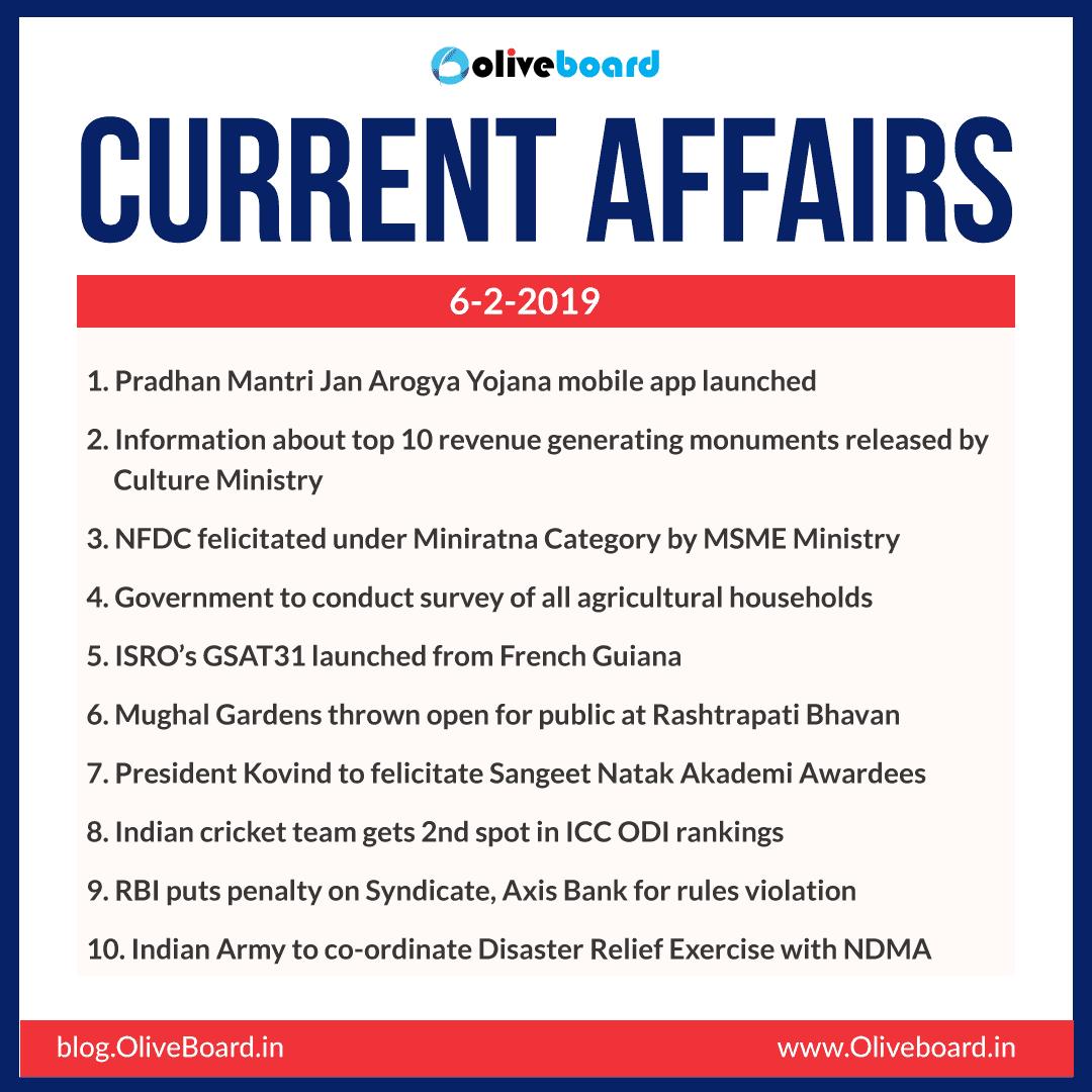 Current Affairs: 06 February 2019