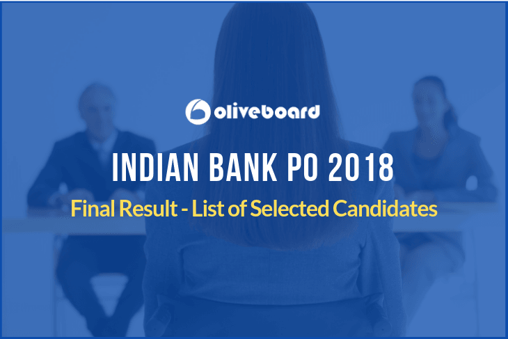 Indian Bank PO 2018 Final Result
