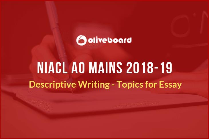 NIACL AO Descriptive Writing