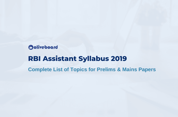 RBI Assistant Syllabus 2019