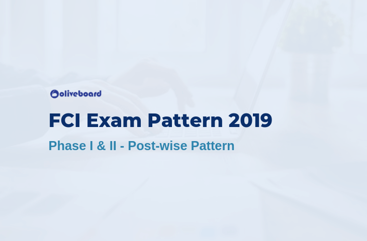 fci 2019 exam pattern