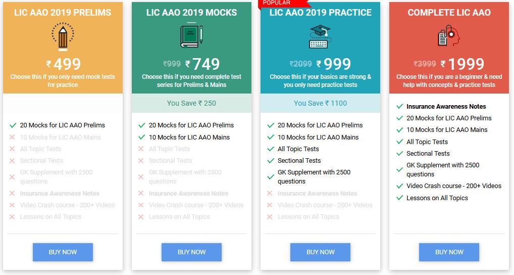 LIC AAO Mock Tests