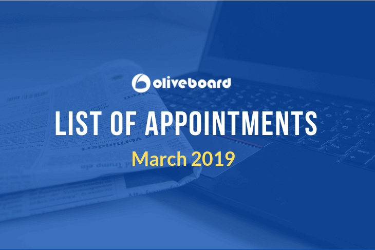 Appointments March 2019