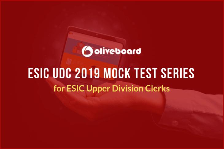 ESIC UDC Mock Test