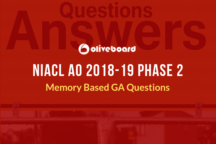 NIACL AO Phase 2 GA Questions