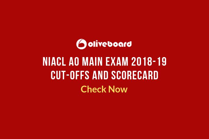 NIACL AO Main Exam Cutoffs 1