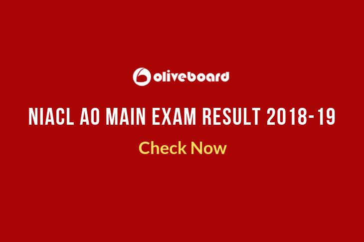 NIACL AO Main Exam Result