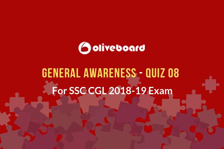 SSC CGL General Awareness Quiz 08
