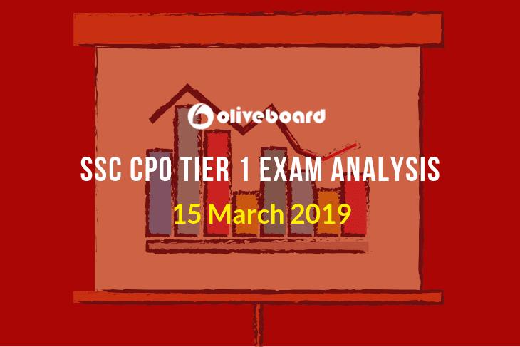 SSC CPO Tier 1 Exam Analysis 15 mar