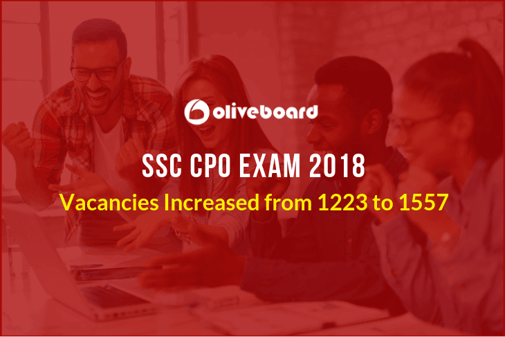 SSC CPO 2018 Updated Vacancy