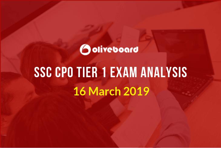 ssc cpo exam analysis tier 1