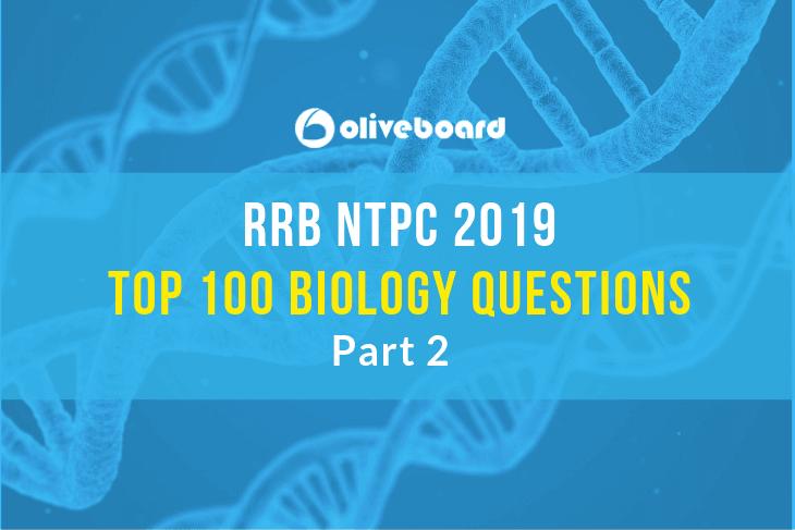 RRB NTPC Biology Questions 2
