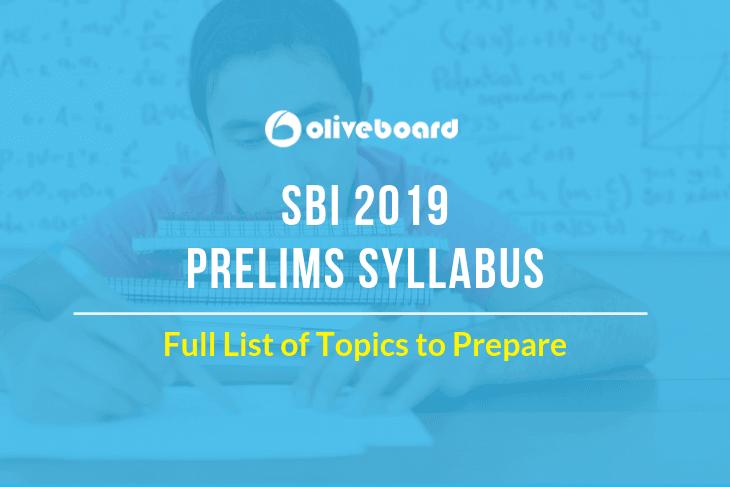 SBI PO Syllabus 2019 PRELIMS