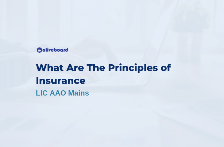What Are The Principles of Insurance